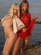 Blonde innocent Teens relax at the beach. New Galitsin-news gallery