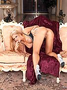 Ava Ramone from Glamour Models Gone Bad - Ava Ramone on the sofa playign with her pussy