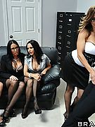 Francesca Le, Vanilla Deville, Ava Addams, Veronica Avluv Pictures in Office 4-Play