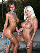Crissy Moran from DigiDolls - Sexy Crissy Moran and her friend playing outside