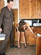 Milfs Likeit Big Dirty brunette milf gets baged hard by the sanitary technician