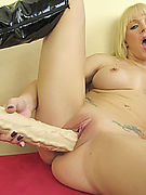 Heidi Mayne fucking her wet pussy with large dildos