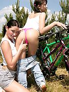Clubseventeen Two lesbian girls going naughty outdoor