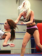NudeFightClub.com - Kissy and Bea Stiel - where the sexiest sporty girls struggle for victory!