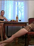 Katia and Lada: real hard drunk girls making sexy and even hardcore actions!