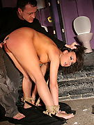 Dominatedgirls.Com - Hog tie first timers obey their masters and get rope bondaged