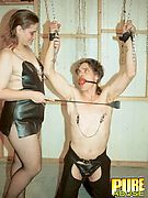 Submissive Slave Gets Gagged And Tortured!