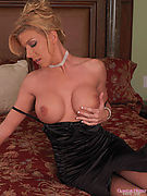Lexi Lamour from Glamour Models Gone Bad - Hot blonde in black dress and stockings