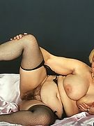 American Fatties - Mature Fattie In Black Stockings