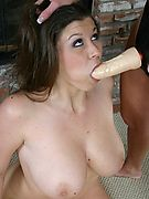 Strapon Lesbians - Girls get anally punished with thick strapon dildos!