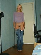 Blonde MILF naked in her room