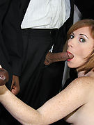 Allison Wyte gets covered in Sperm by big black Cocks