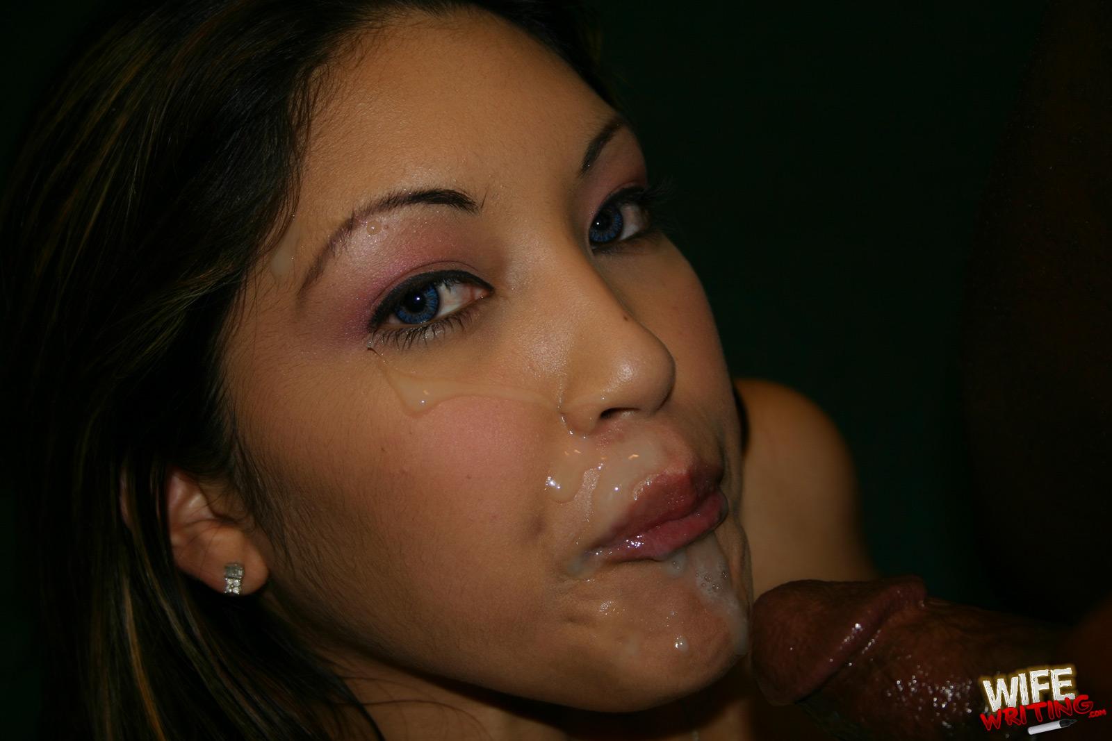 Сперма на лицо азиаток порно 4 фотография