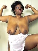 Fat Black Titties -  older ebony bbw with big naked titties!